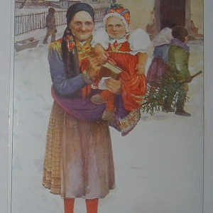 2bc59d6c23bd Šaty vysokých barev se uklidily do truhel. O Adventu se zpívaly pobožné  písničky místo světských